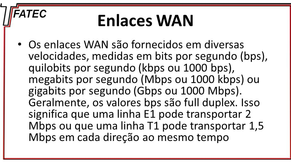 Enlaces WAN