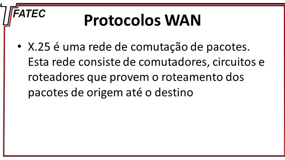 Protocolos WAN