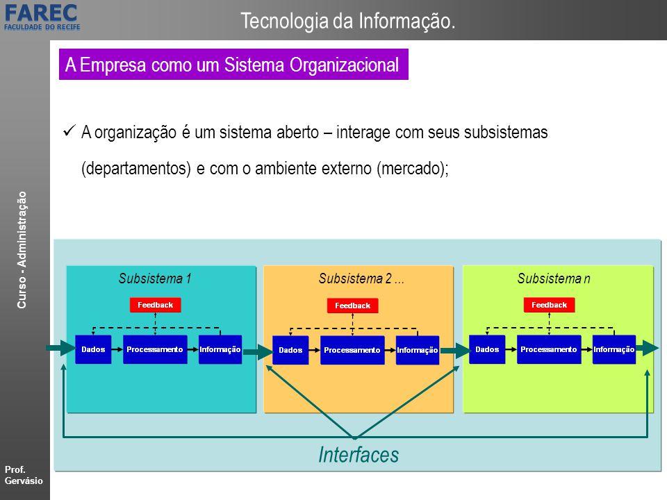 Interfaces A Empresa como um Sistema Organizacional