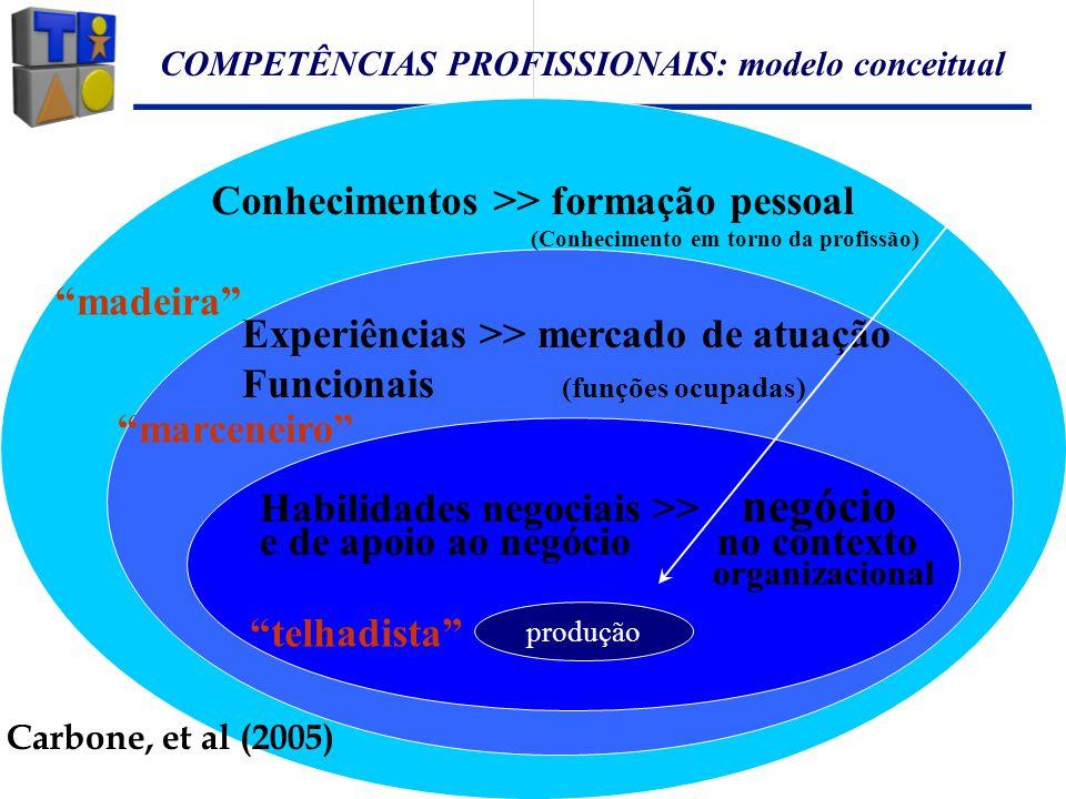COMPETÊNCIAS PROFISSIONAIS: modelo conceitual