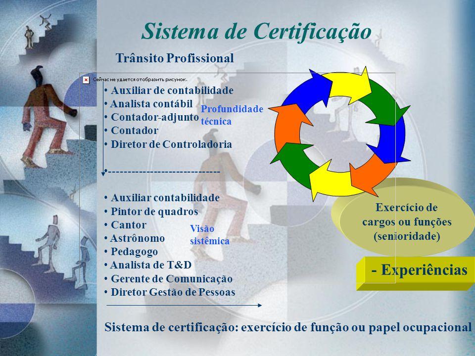 Sistema de Certificação cargos ou funções (senioridade)