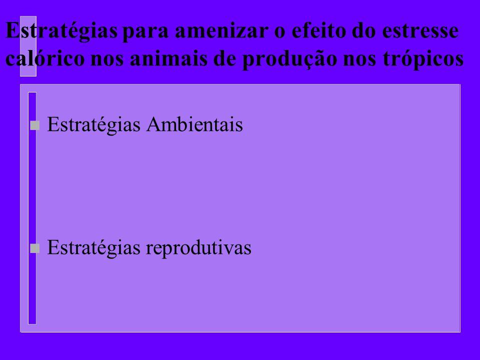 Estratégias para amenizar o efeito do estresse calórico nos animais de produção nos trópicos