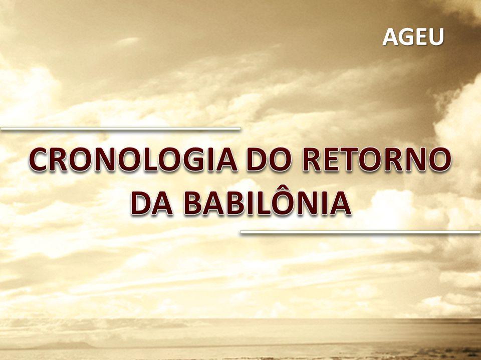 CRONOLOGIA DO RETORNO DA BABILÔNIA