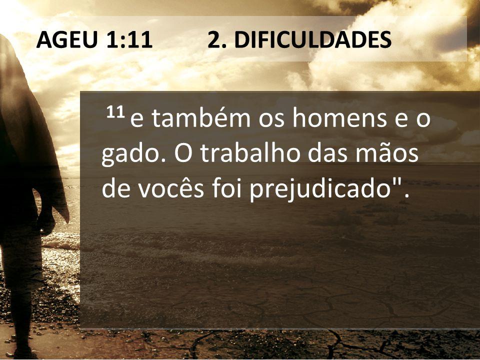 AGEU 1:11 2. DIFICULDADES 11 e também os homens e o gado.