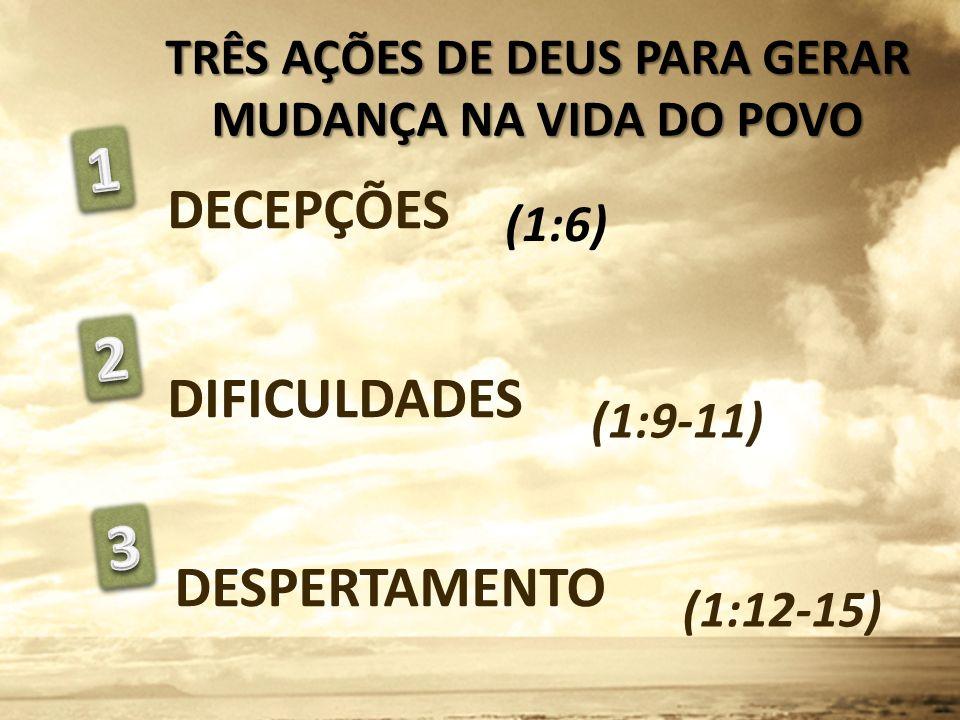 TRÊS AÇÕES DE DEUS PARA GERAR MUDANÇA NA VIDA DO POVO