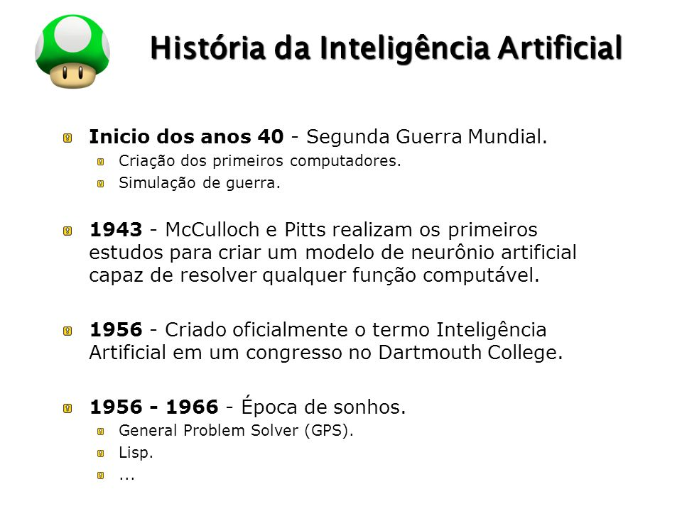 História da Inteligência Artificial
