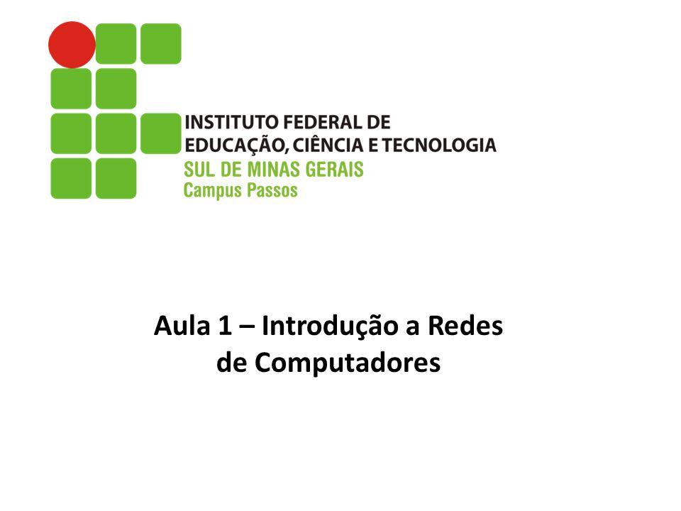 Aula 1 – Introdução a Redes de Computadores