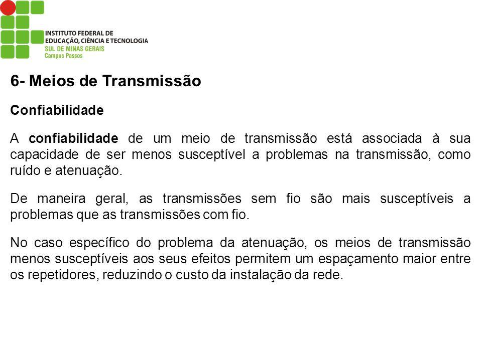 6- Meios de Transmissão Confiabilidade