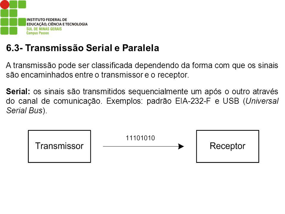 6.3- Transmissão Serial e Paralela