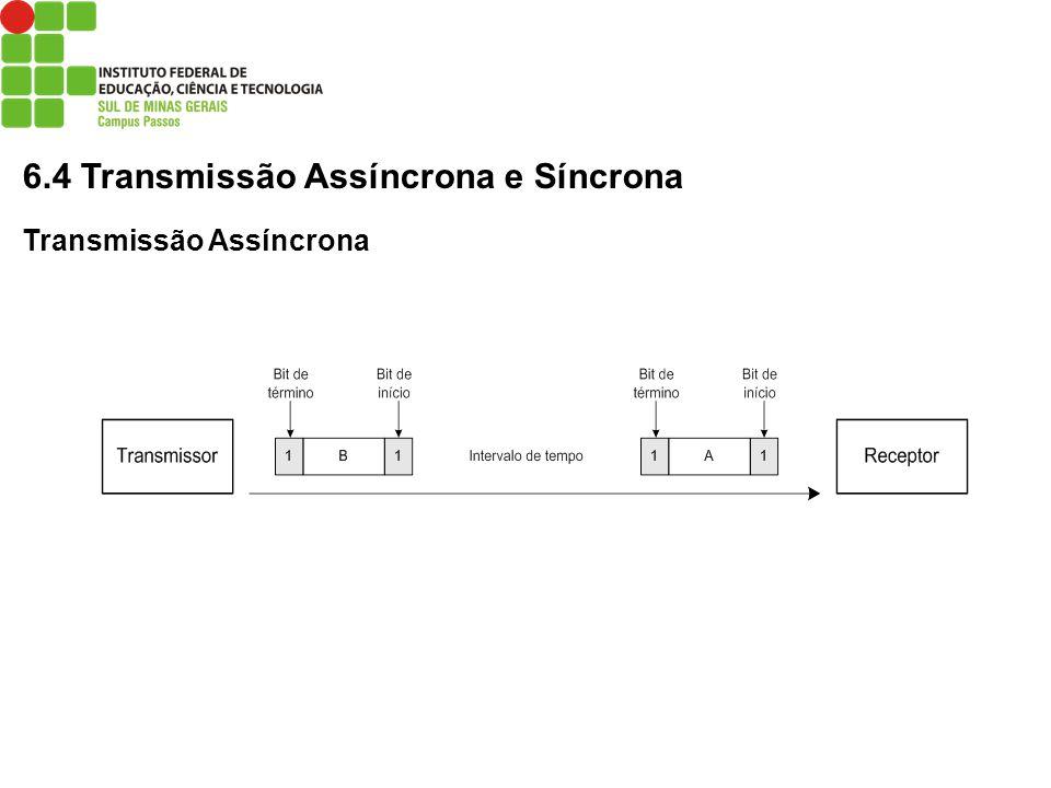 6.4 Transmissão Assíncrona e Síncrona