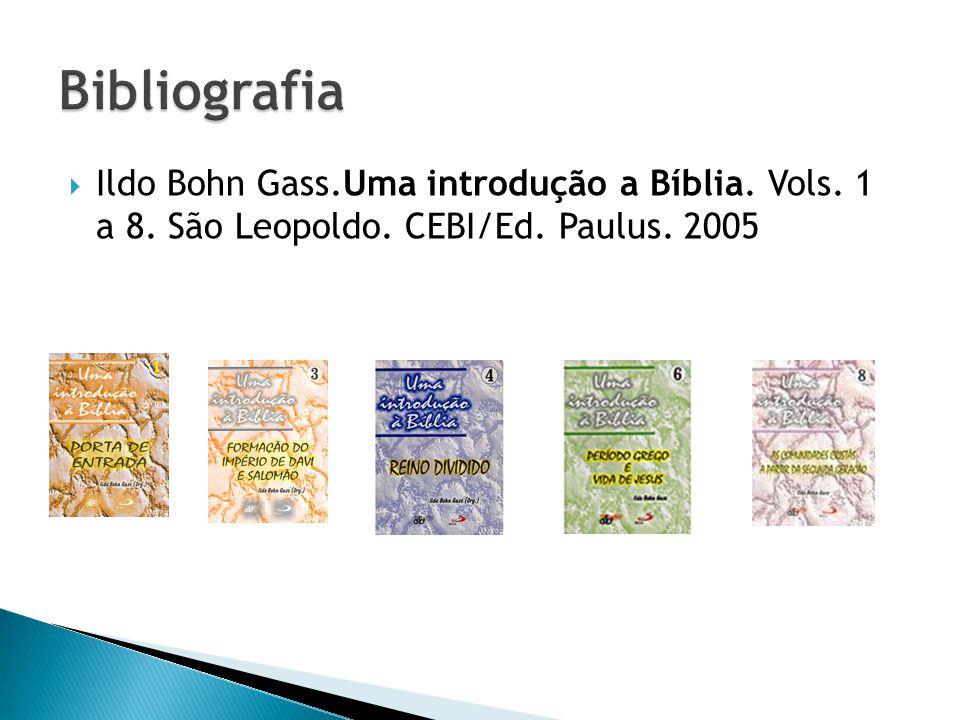 Bibliografia Ildo Bohn Gass.Uma introdução a Bíblia.