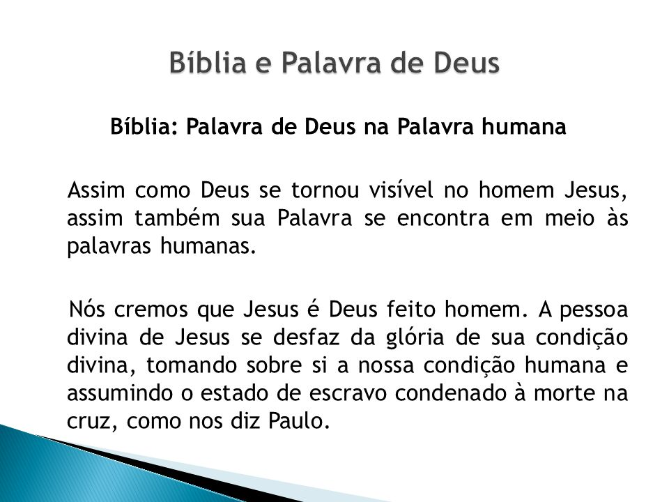 Bíblia e Palavra de Deus