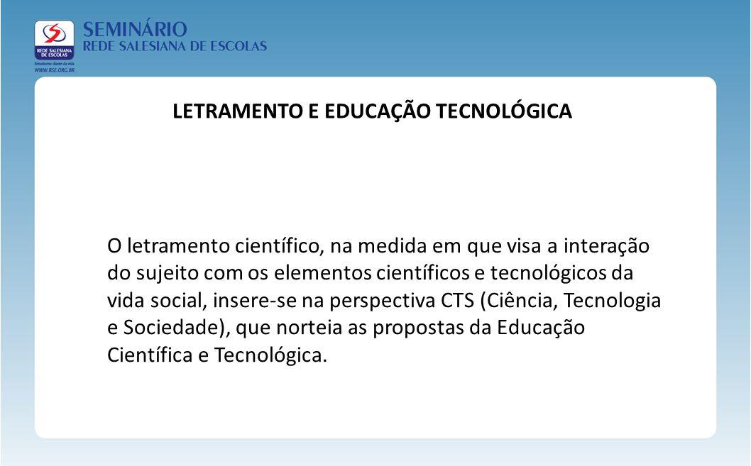 LETRAMENTO E EDUCAÇÃO TECNOLÓGICA