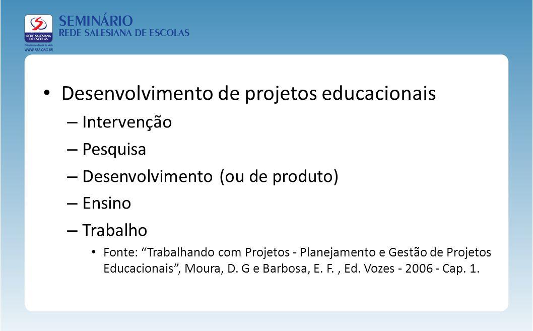 Desenvolvimento de projetos educacionais