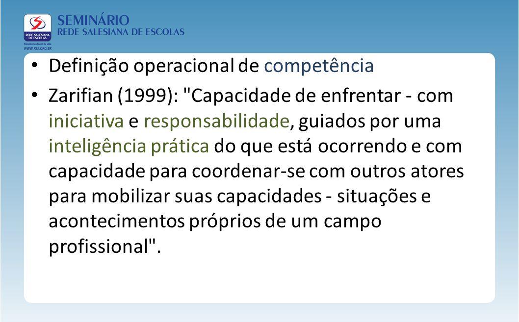 Definição operacional de competência