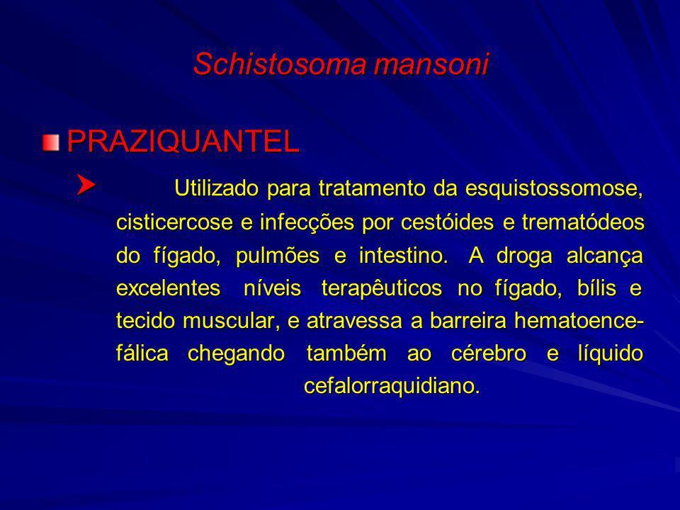  Utilizado para tratamento da esquistossomose,