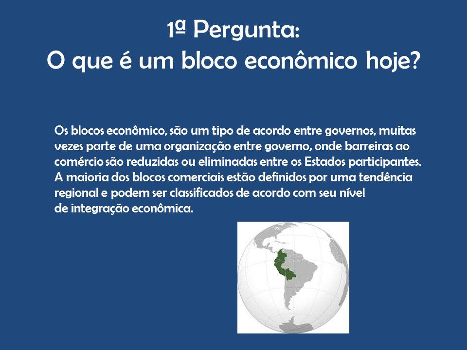 1ª Pergunta: O que é um bloco econômico hoje