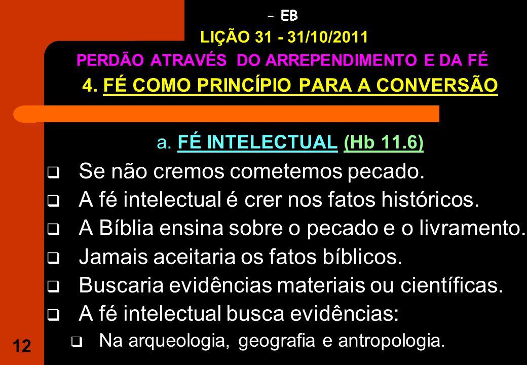 4. FÉ COMO PRINCÍPIO PARA A CONVERSÃO