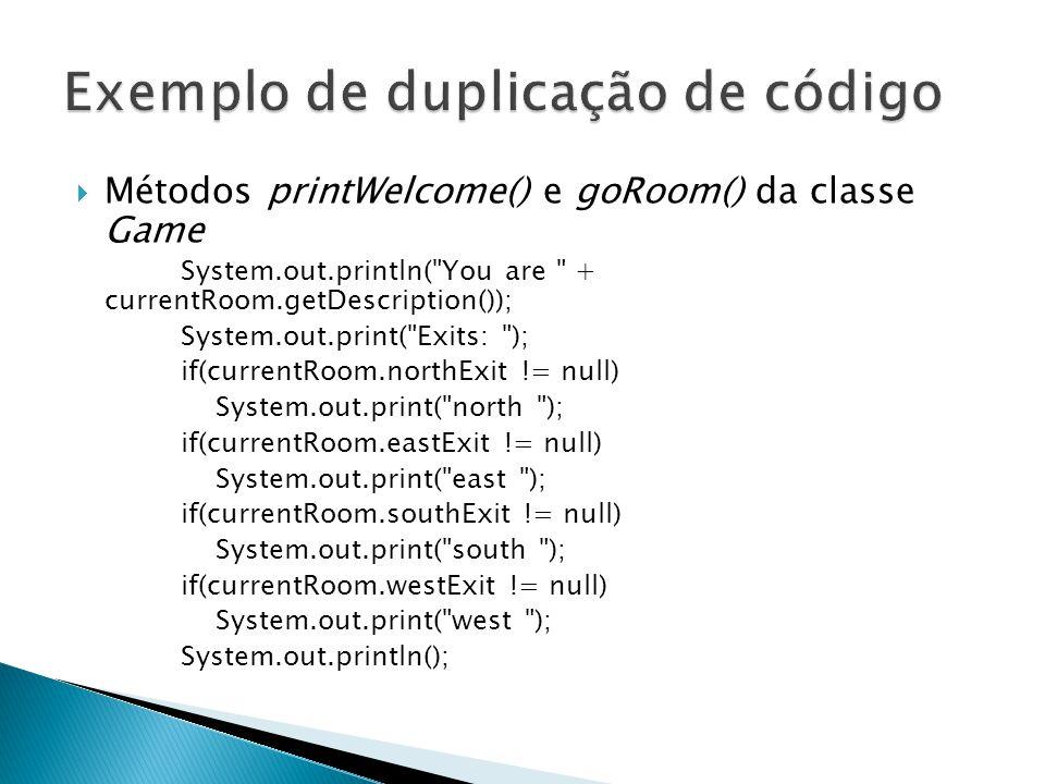Exemplo de duplicação de código