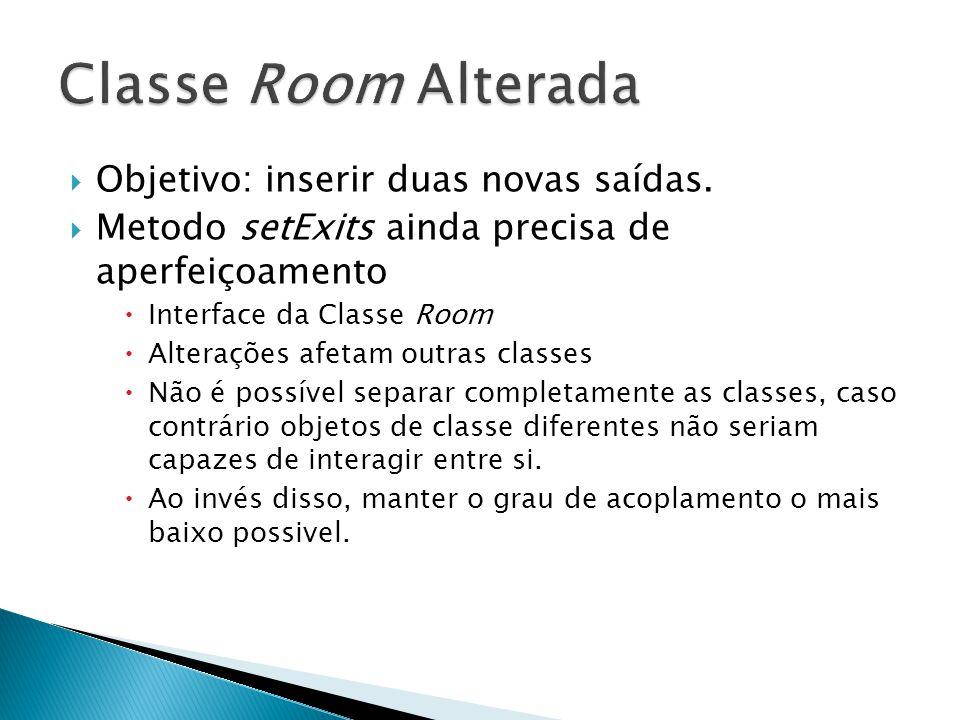 Classe Room Alterada Objetivo: inserir duas novas saídas.