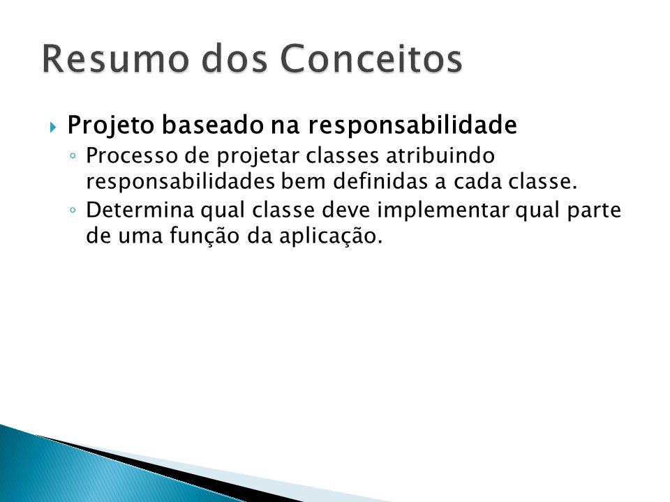 Resumo dos Conceitos Projeto baseado na responsabilidade