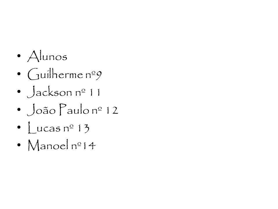Alunos Guilherme nº9 Jackson nº 11 João Paulo nº 12 Lucas nº 13 Manoel nº14