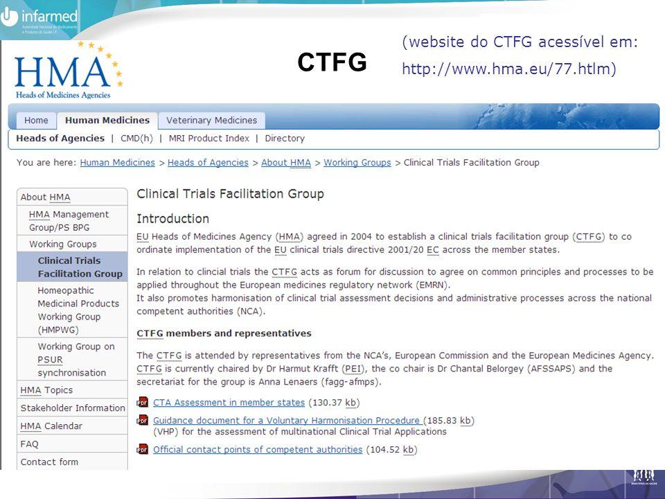 CTFG (website do CTFG acessível em: http://www.hma.eu/77.htlm)