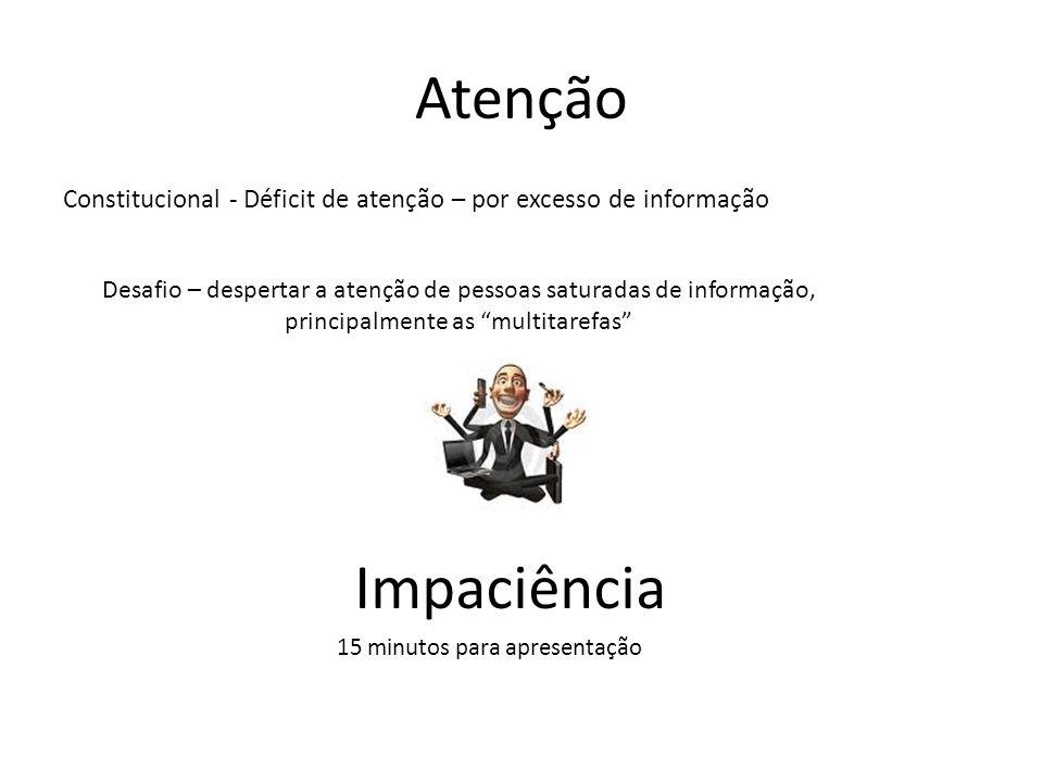 Atenção Constitucional - Déficit de atenção – por excesso de informação. Desafio – despertar a atenção de pessoas saturadas de informação,