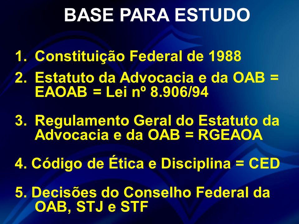 BASE PARA ESTUDO Constituição Federal de 1988