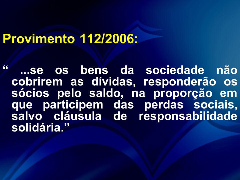 Provimento 112/2006: