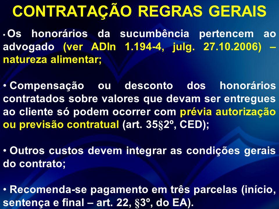 CONTRATAÇÃO REGRAS GERAIS