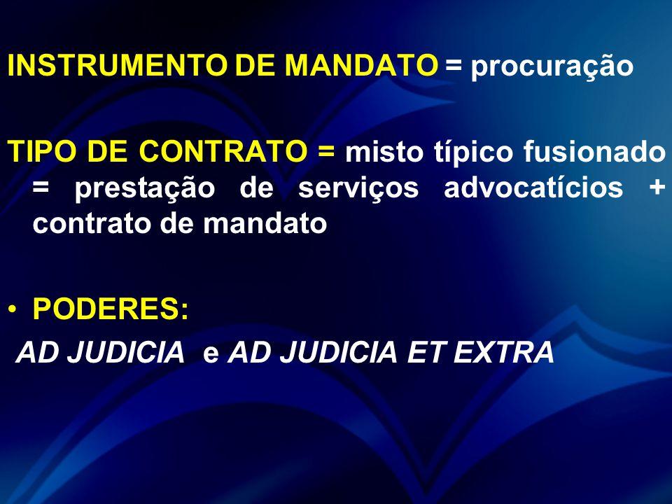 INSTRUMENTO DE MANDATO = procuração