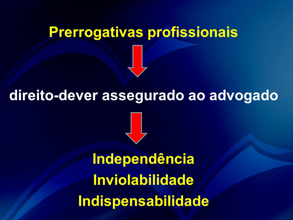 Prerrogativas profissionais direito-dever assegurado ao advogado