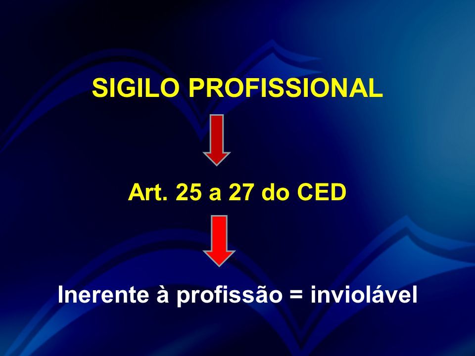 Inerente à profissão = inviolável