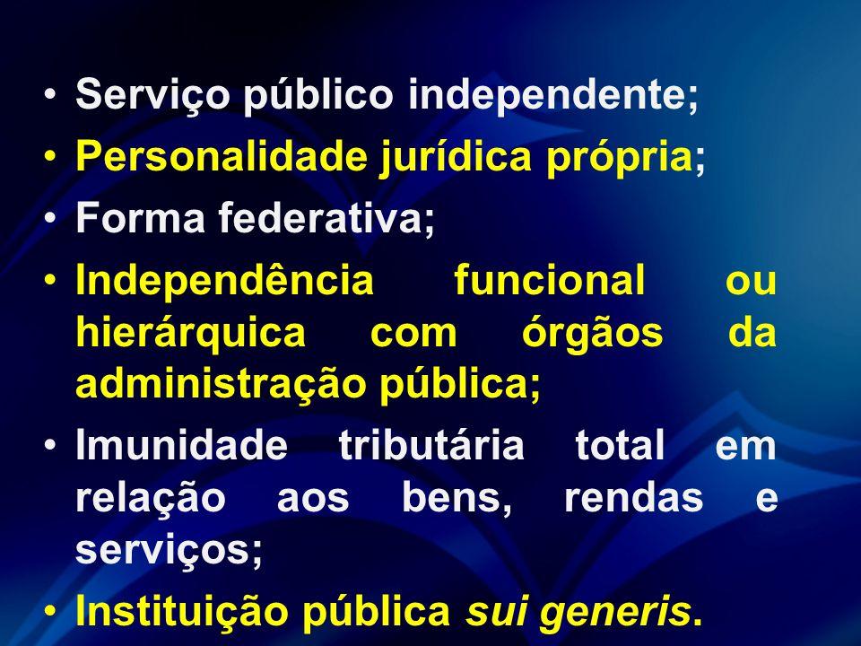Serviço público independente;