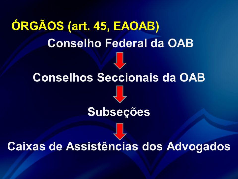 ÓRGÃOS (art.