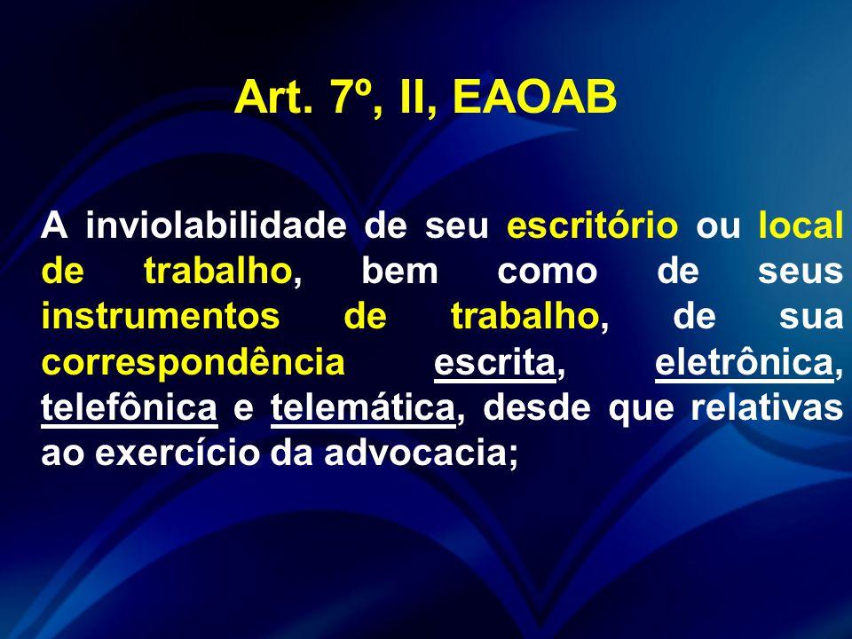 Art. 7º, II, EAOAB