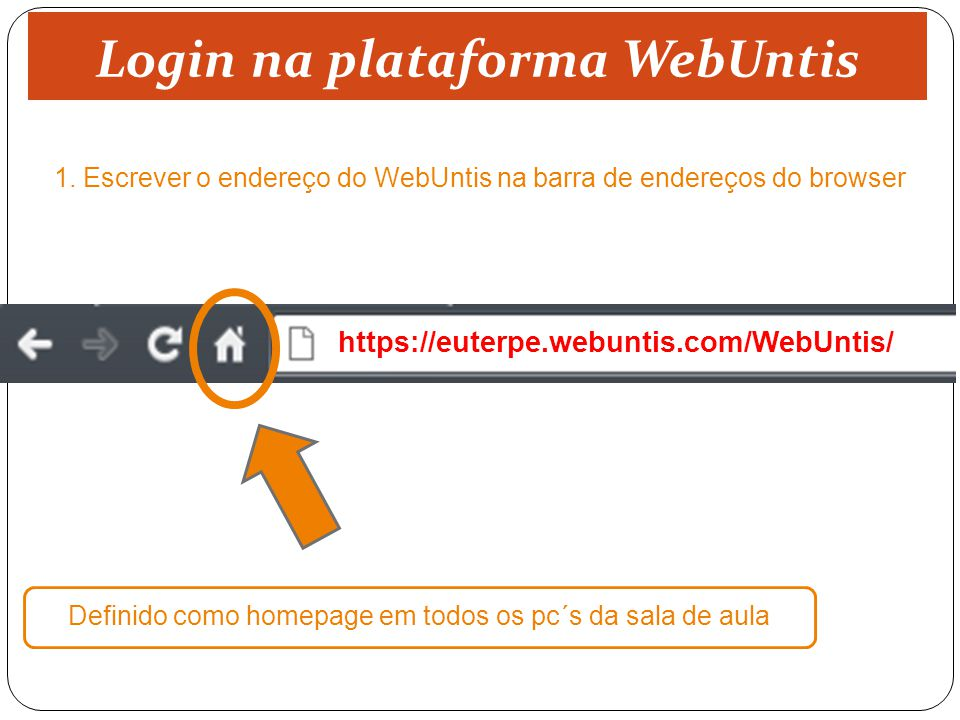 Login na plataforma WebUntis