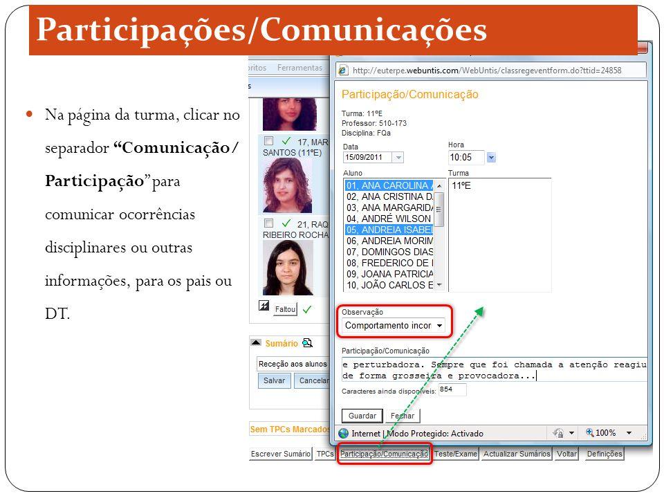 Participações/Comunicações