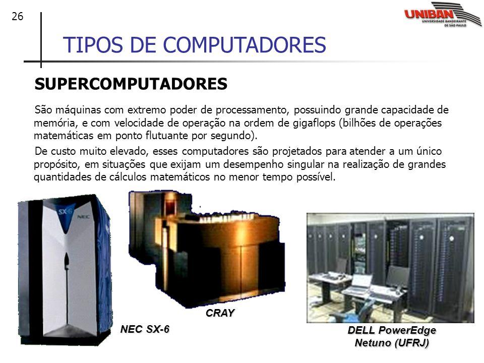 TIPOS DE COMPUTADORES SUPERCOMPUTADORES