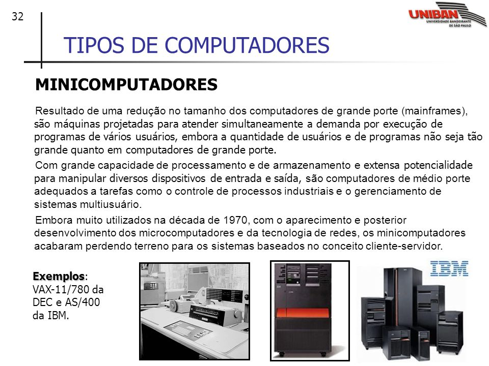 TIPOS DE COMPUTADORES MINICOMPUTADORES