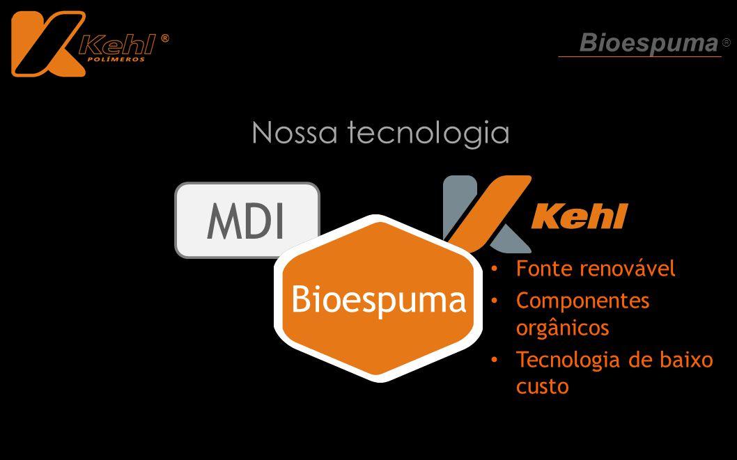 MDI Bioespuma Nossa tecnologia Bioespuma ® Fonte renovável