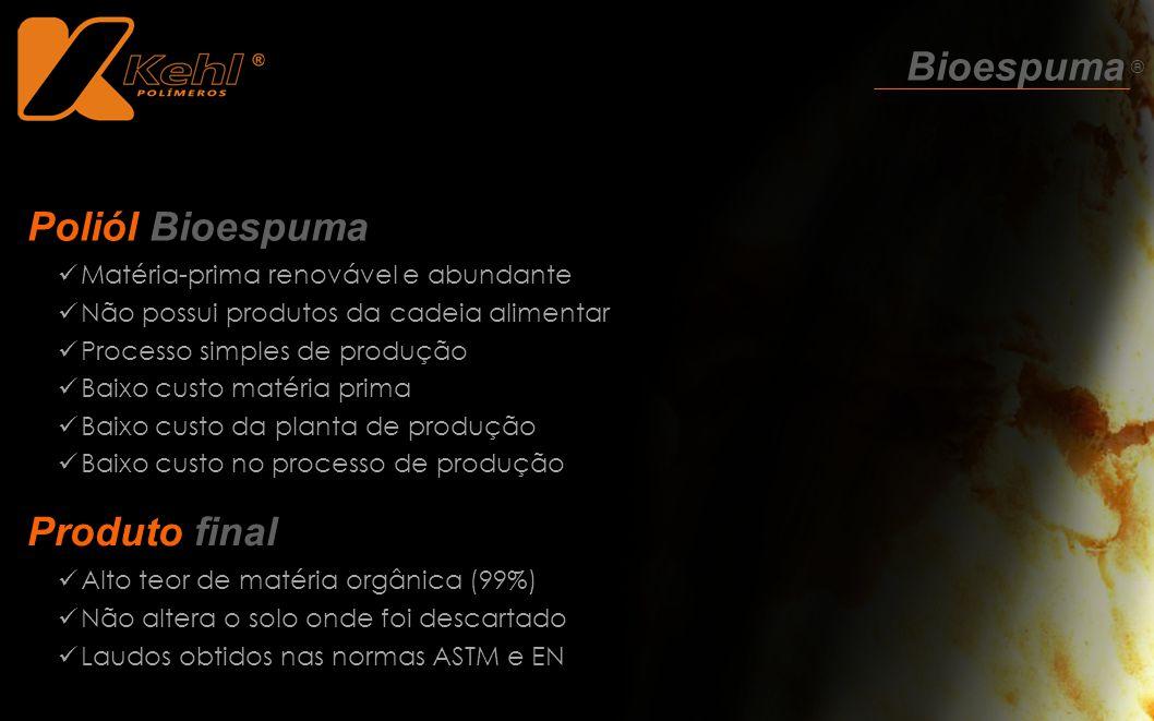 Bioespuma ® Poliól Bioespuma Produto final