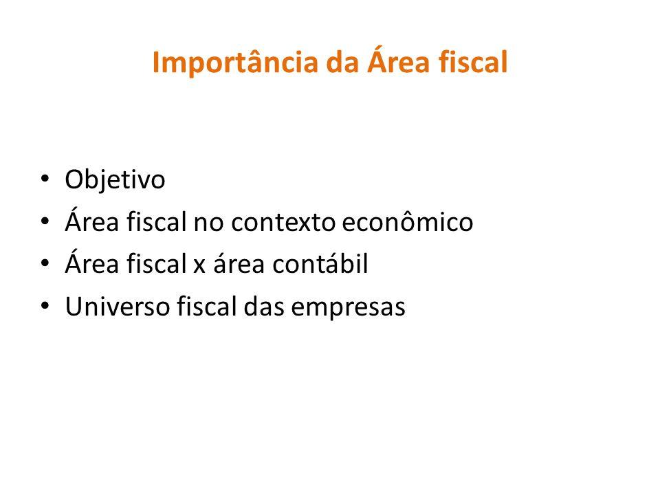 Importância da Área fiscal