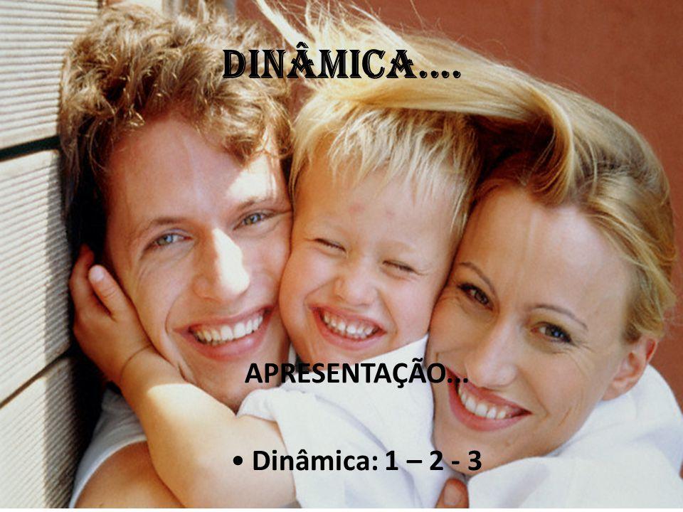 DINÂMICA.... APRESENTAÇÃO... Dinâmica: 1 – 2 - 3