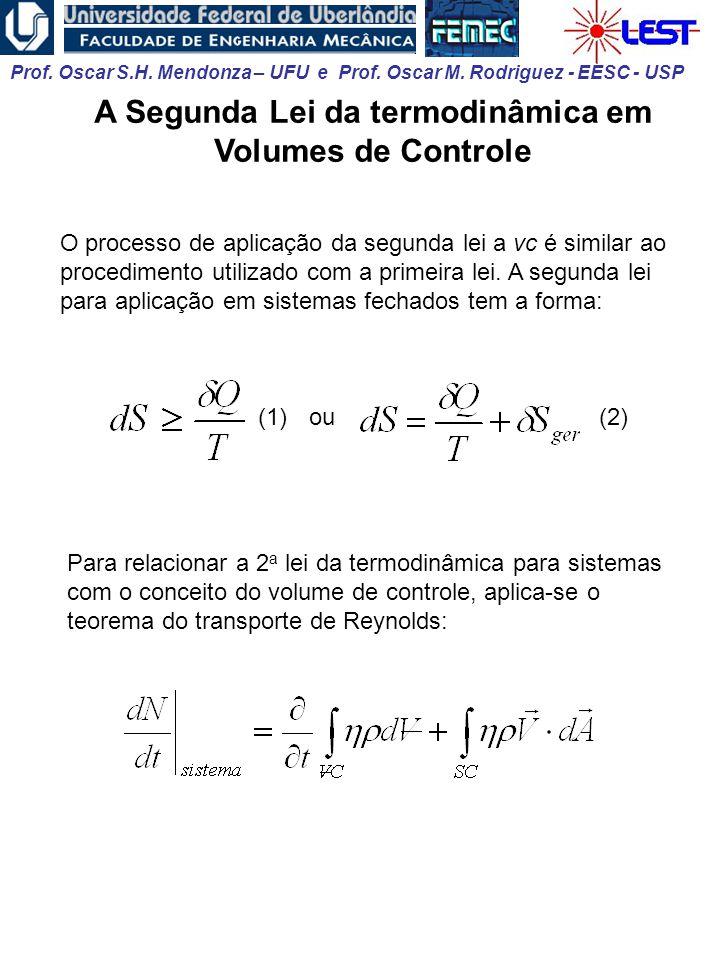 A Segunda Lei da termodinâmica em Volumes de Controle