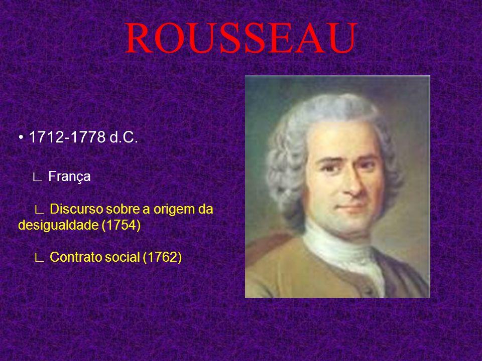 ROUSSEAU • 1712-1778 d.C. ∟ França.