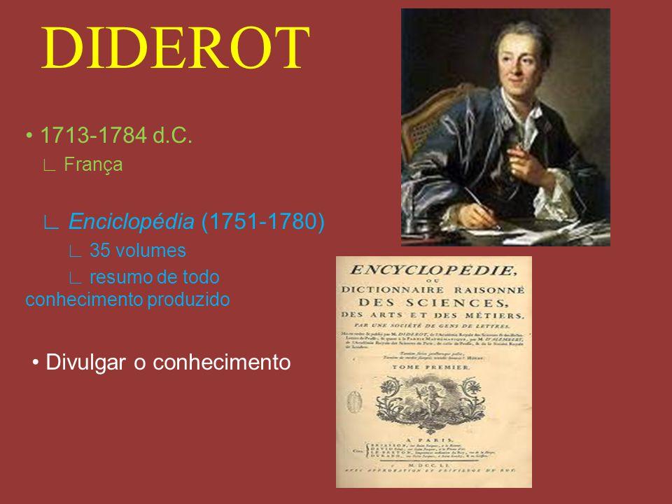 DIDEROT • 1713-1784 d.C. • Divulgar o conhecimento ∟ França