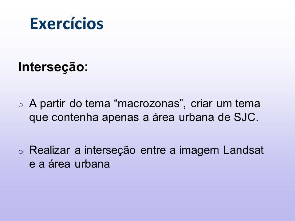 Exercícios Interseção:
