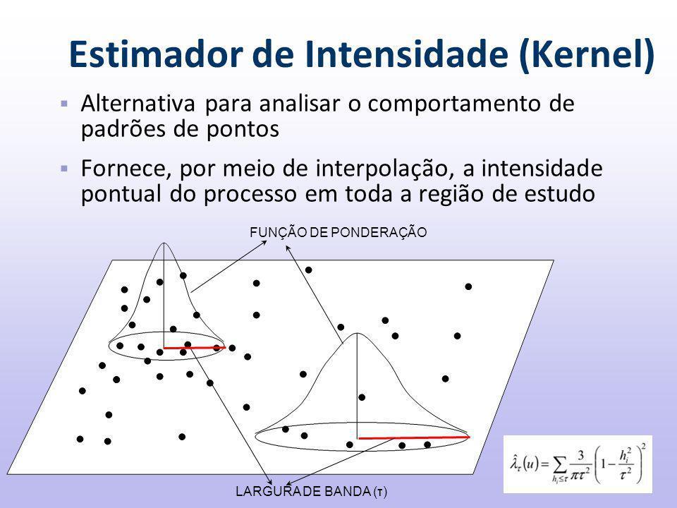 Estimador de Intensidade (Kernel)